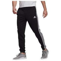 Adidas Cuff 3-Stripes Παντελόνι Φόρμας με Λάστιχο Μαύρο